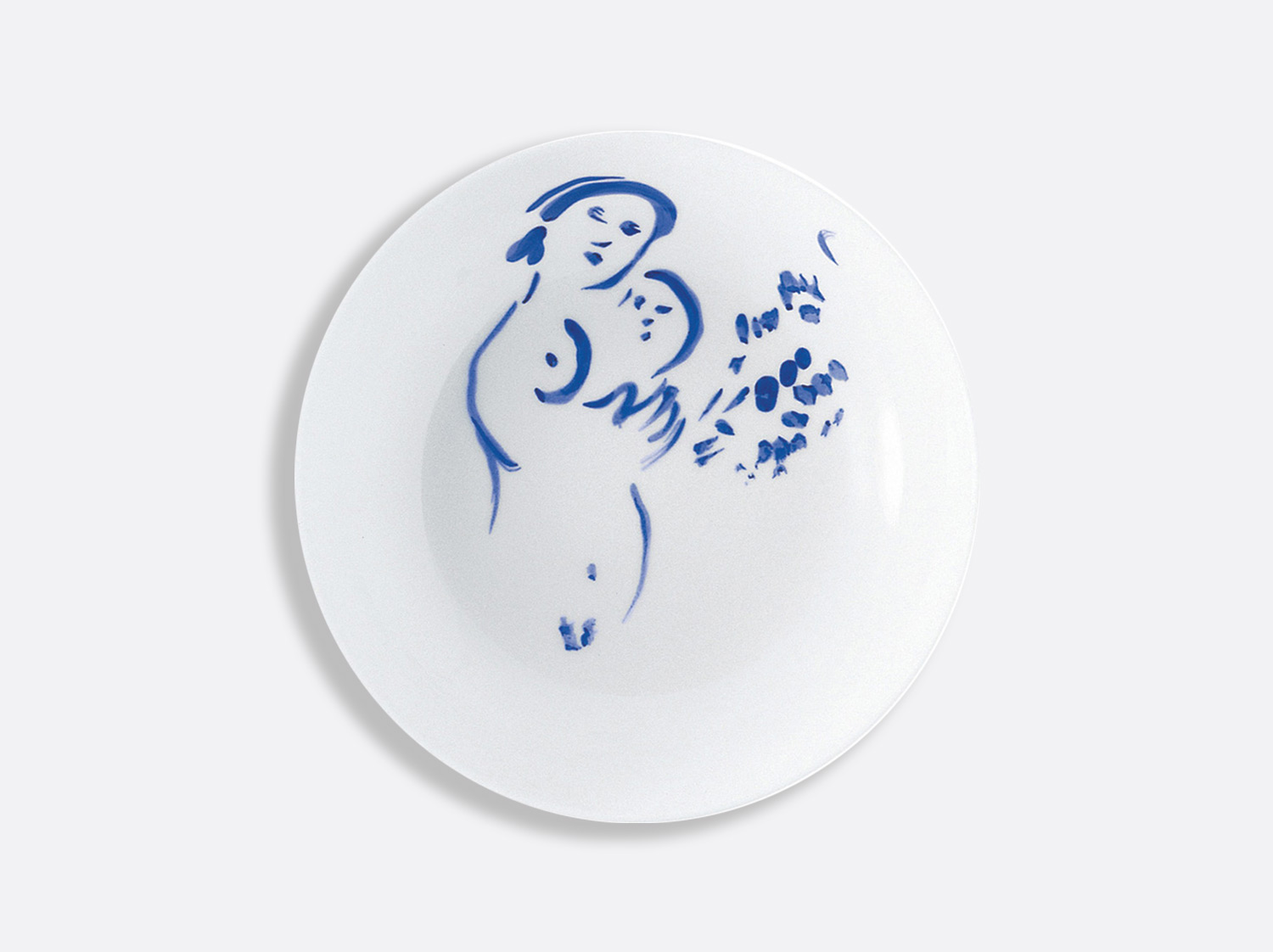 Assiette creuse maternite en porcelaine de la collection Pour ida Bernardaud