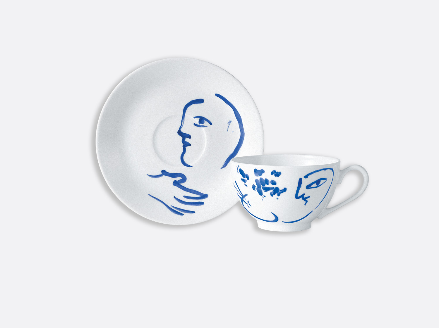 Tasse thé le regard du peintre en porcelaine de la collection Pour ida Bernardaud