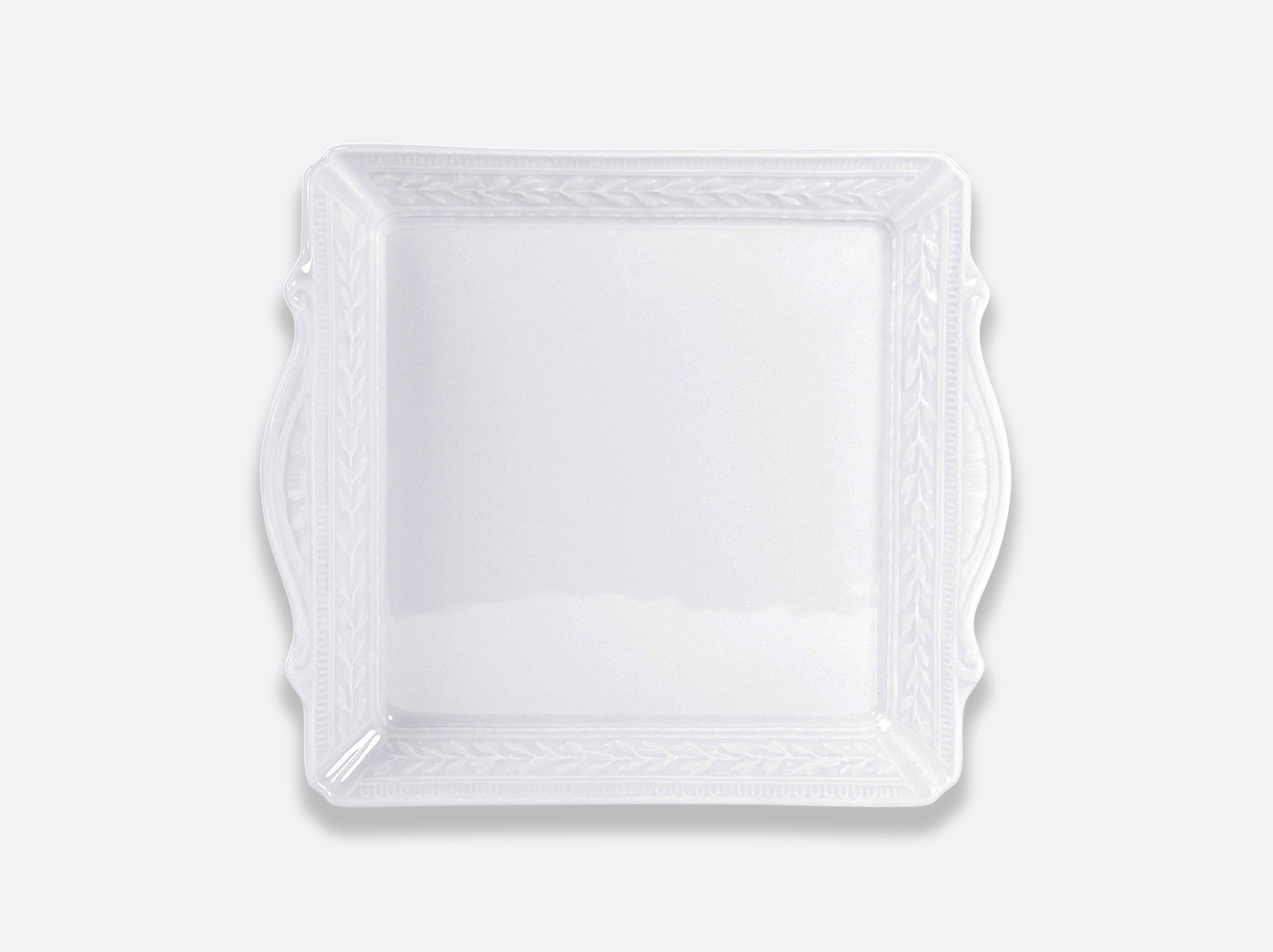 "China Square handled tray 9.5"" x 9.5"" of the collection Louvre 