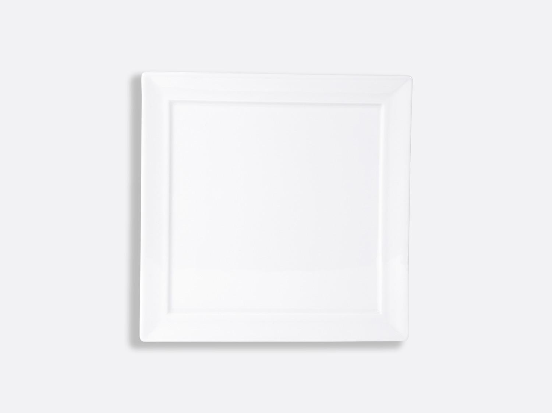 Assiette carrée Wallis 21 x 21 cm en porcelaine de la collection Fusion Bernardaud