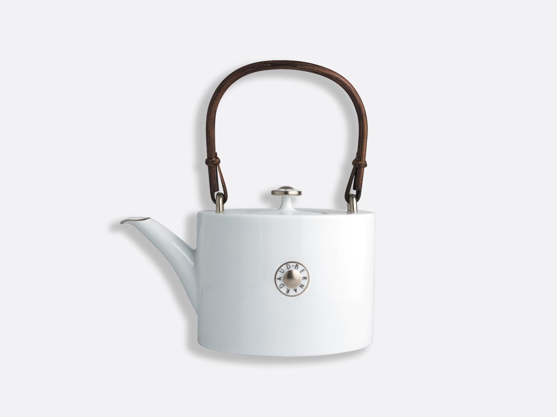 Théière platine 6 tasses 75 cl en porcelaine de la collection Shanghai platine Bernardaud