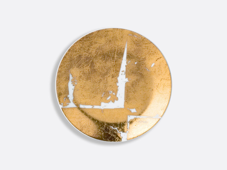 Assiette coupe 14 cm en porcelaine de la collection Feuille d or Bernardaud