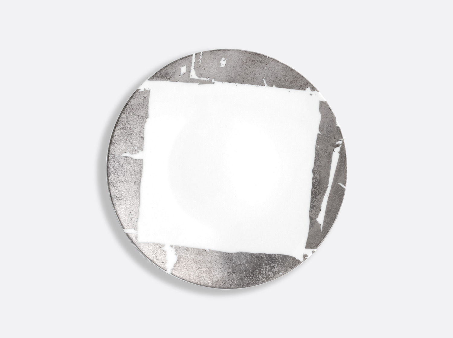 China Coupe plate 21 cm of the collection Silver leaf | Bernardaud