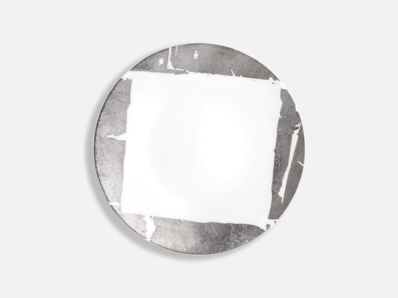 Assiette coupe 21 cm en porcelaine de la collection Feuille d argent Bernardaud
