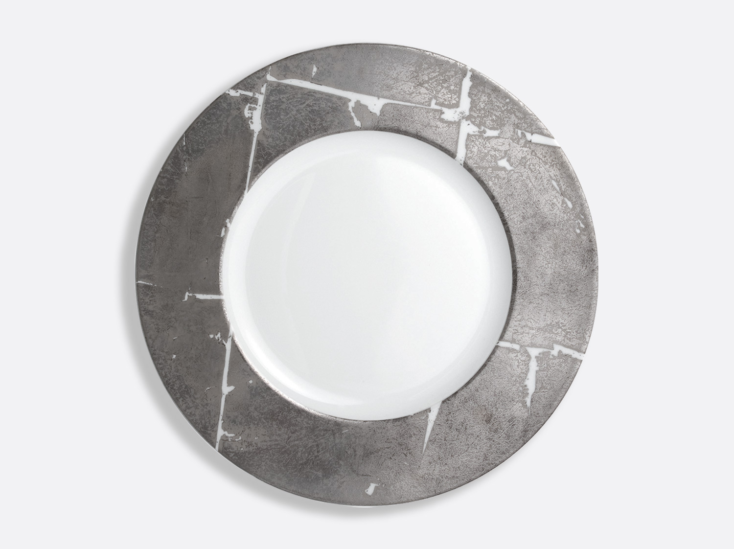 China Shogun plate 31.5 cm of the collection Silver leaf | Bernardaud