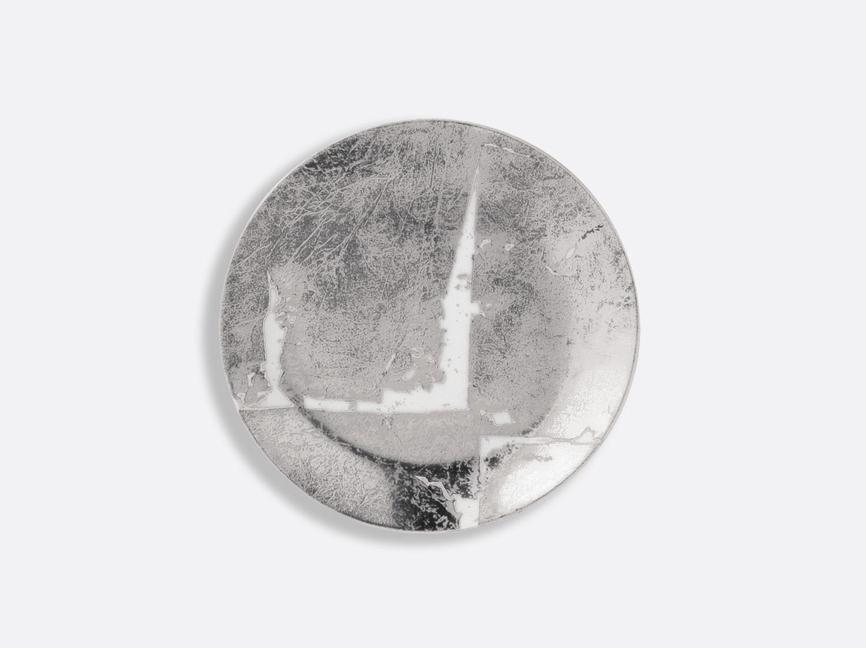 Assiette coupe 14 cm en porcelaine de la collection Feuille d argent Bernardaud