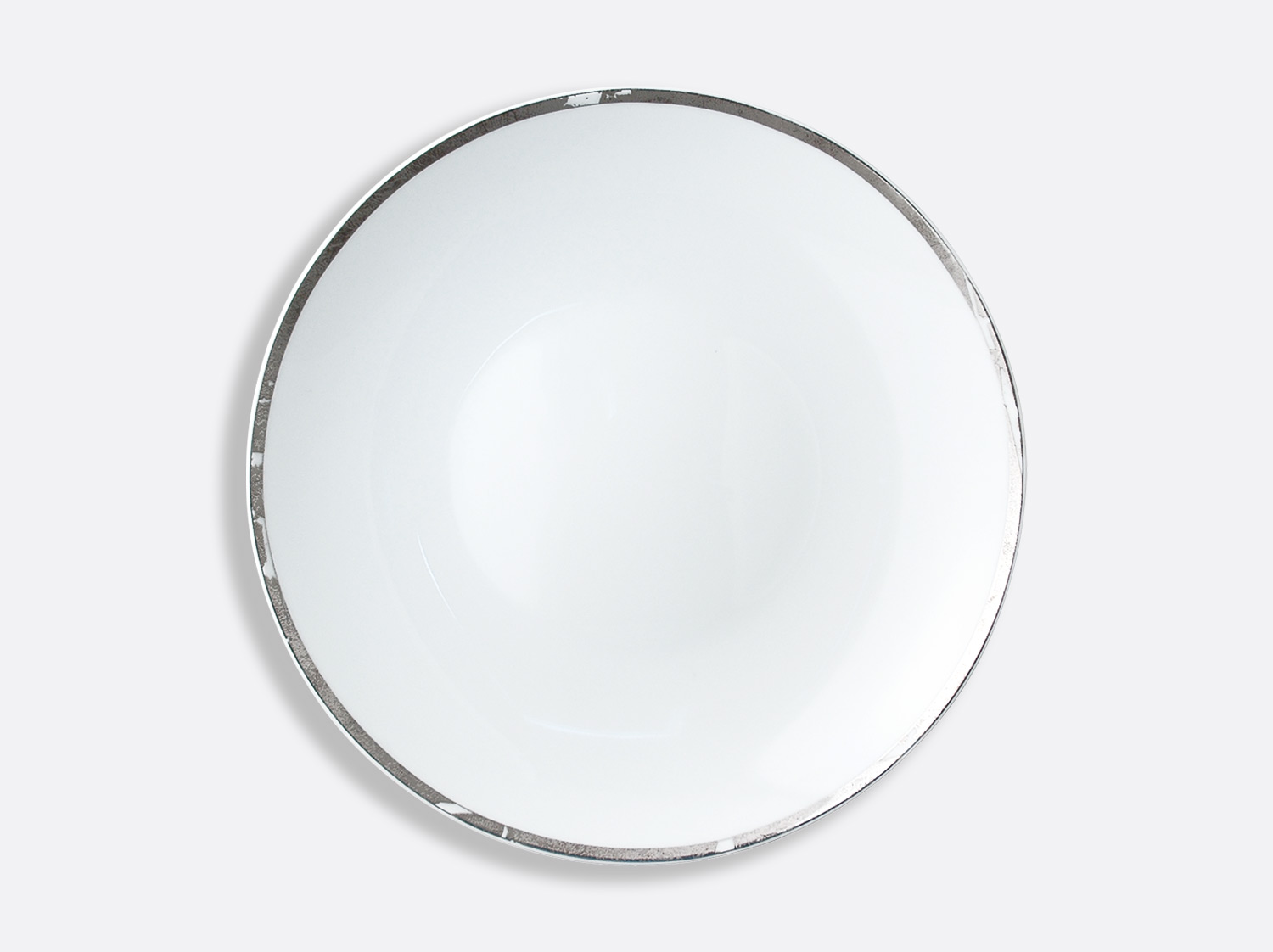 China Deep round dish 29 cm of the collection Silver leaf | Bernardaud