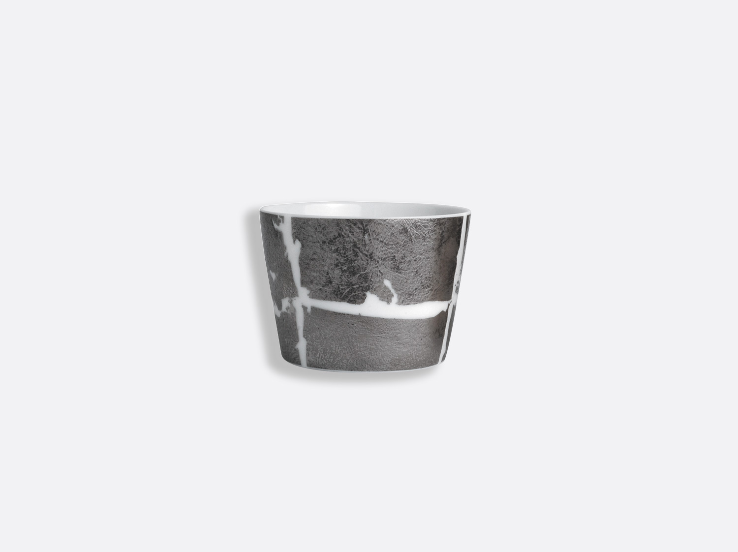 Timbale 14 cl en porcelaine de la collection Feuille d argent Bernardaud