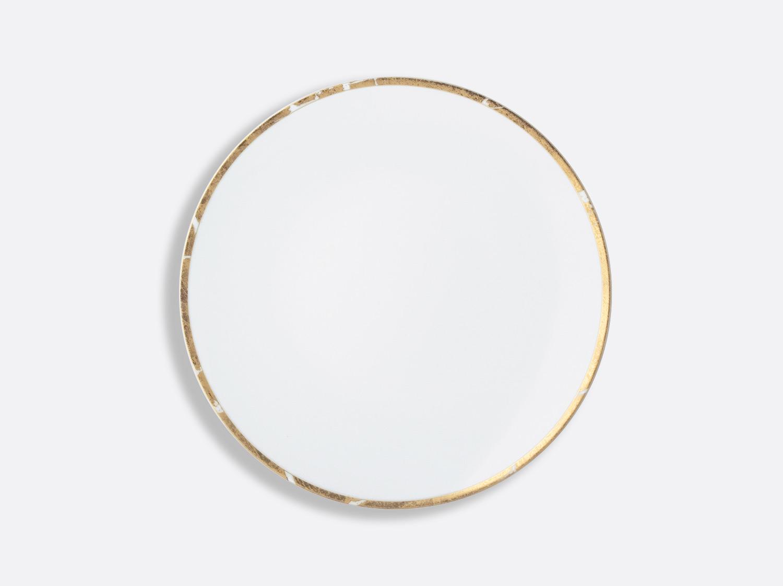 Assiette creuse 19 cm en porcelaine de la collection Feuille d or Bernardaud