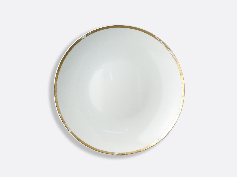 Plat rond creux 29 cm en porcelaine de la collection Feuille d or Bernardaud