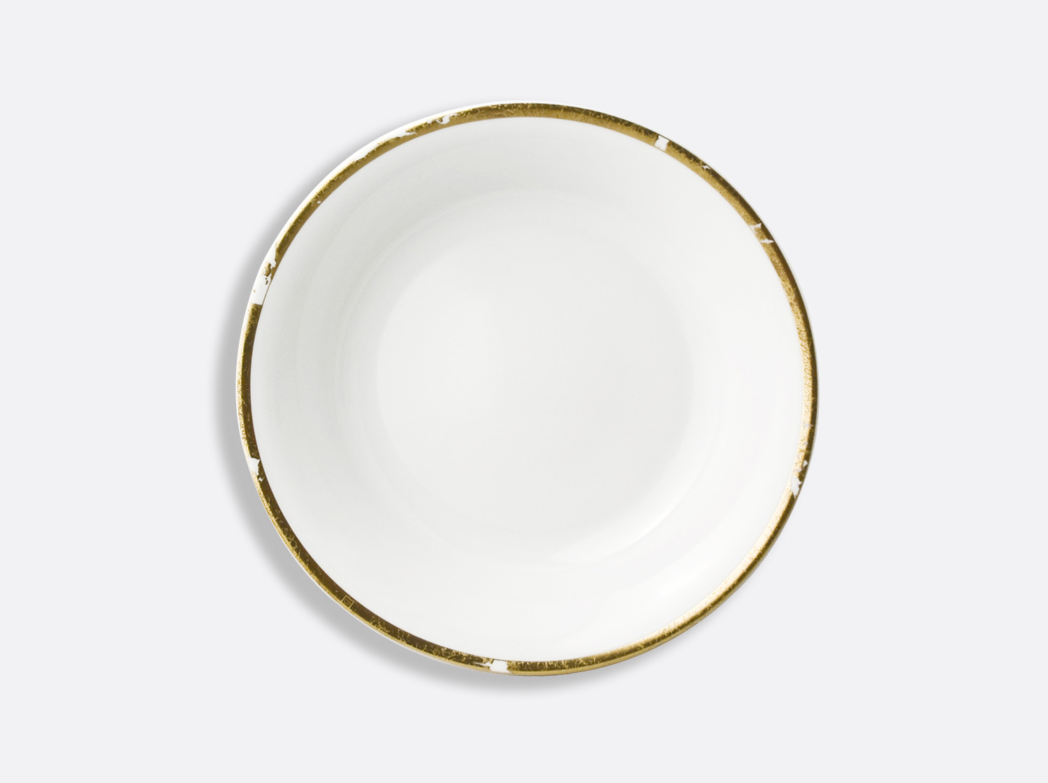 Compotier creux 24,5 cm 80 cl en porcelaine de la collection Feuille d or Bernardaud