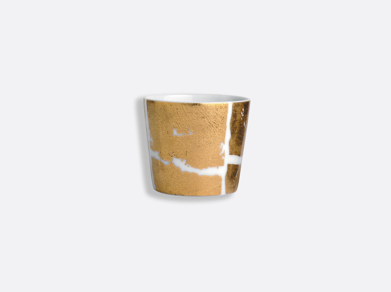 Timbale 6 cl en porcelaine de la collection Feuille d or Bernardaud