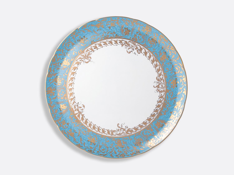 Plat rond creux 29 cm en porcelaine de la collection Eden turquoise Bernardaud