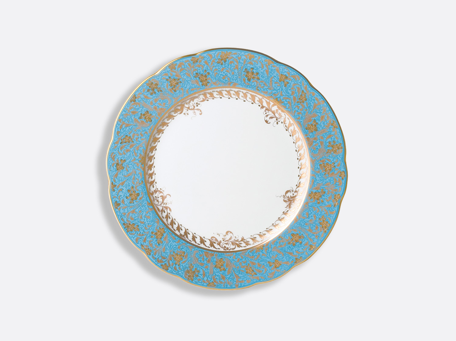 China Dinner plate 26 cm of the collection Eden turquoise | Bernardaud