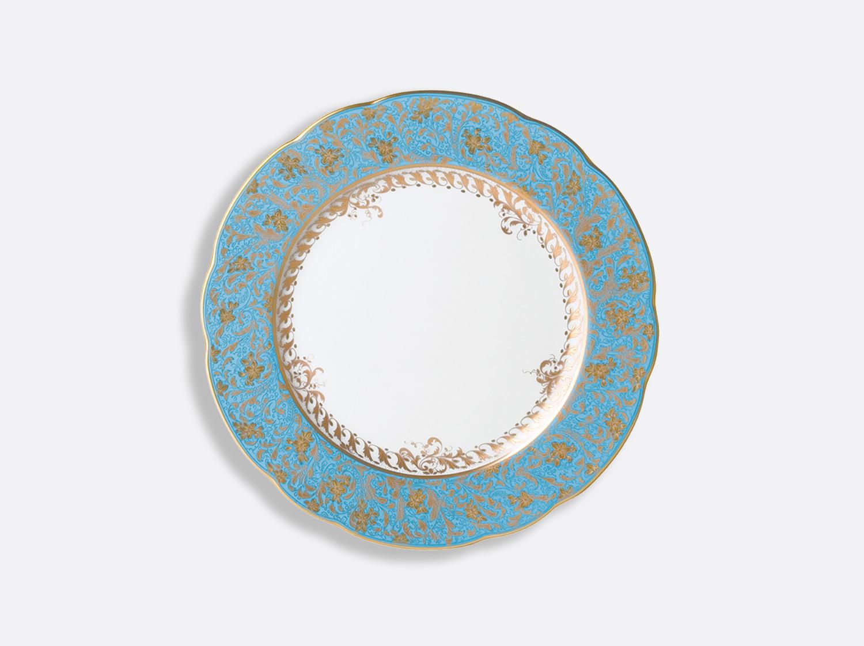 Assiette à dîner 26 cm en porcelaine de la collection Eden turquoise Bernardaud