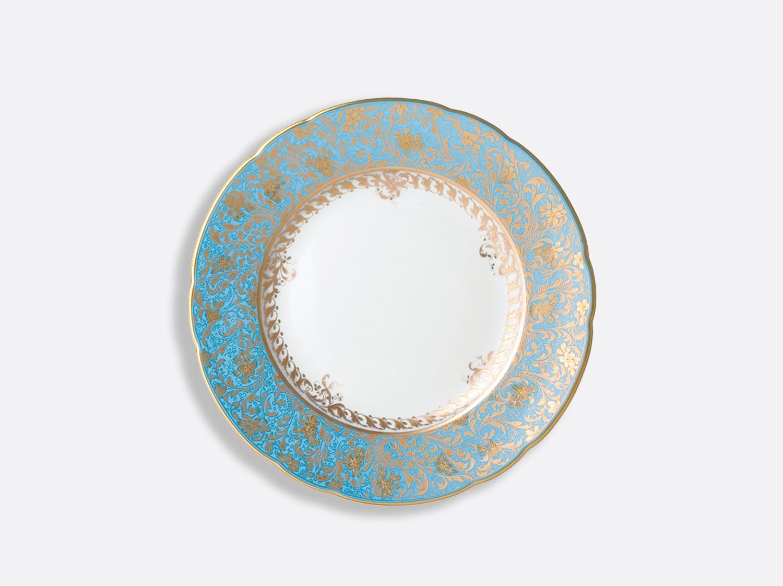 Assiette à dessert 21 cm en porcelaine de la collection Eden turquoise Bernardaud