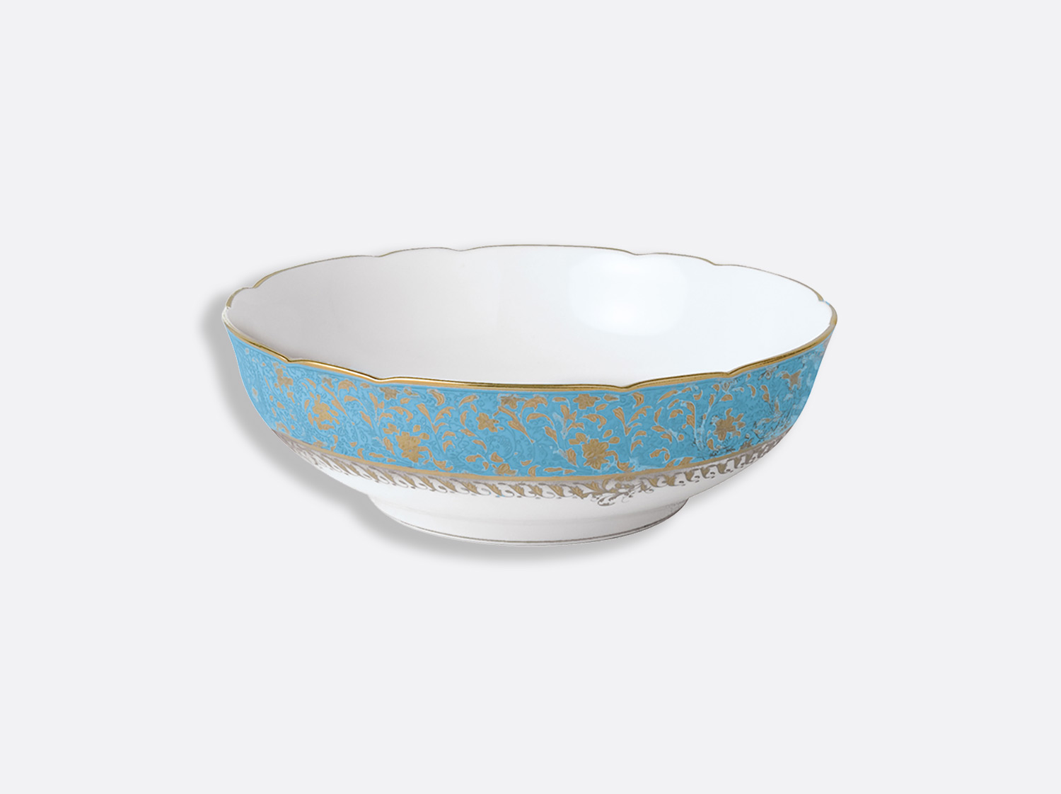 Saladier 25 cm 1,7 L en porcelaine de la collection Eden turquoise Bernardaud