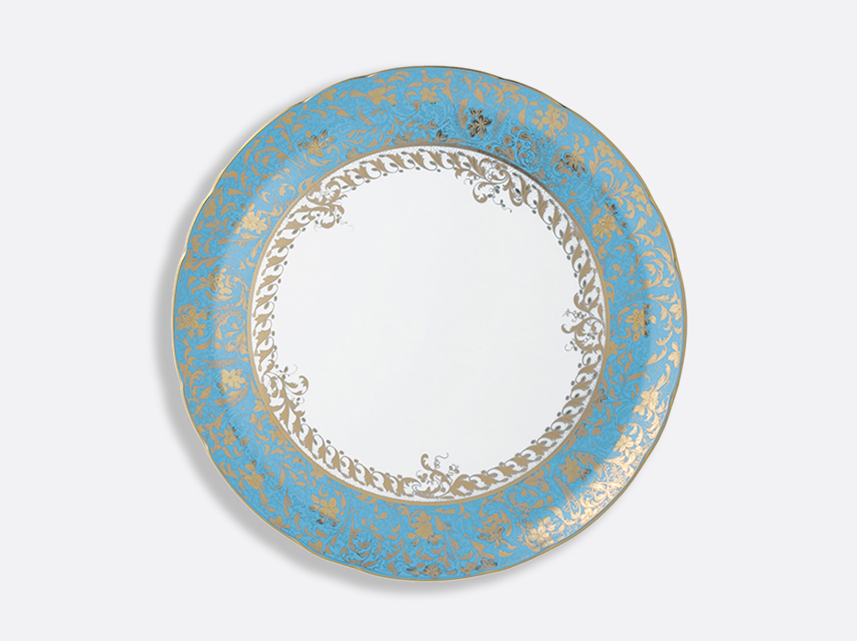 Plat à tarte 32 cm en porcelaine de la collection Eden turquoise Bernardaud