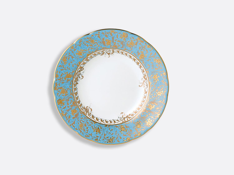 Assiette creuse à aile 22,5 cm en porcelaine de la collection Eden turquoise Bernardaud