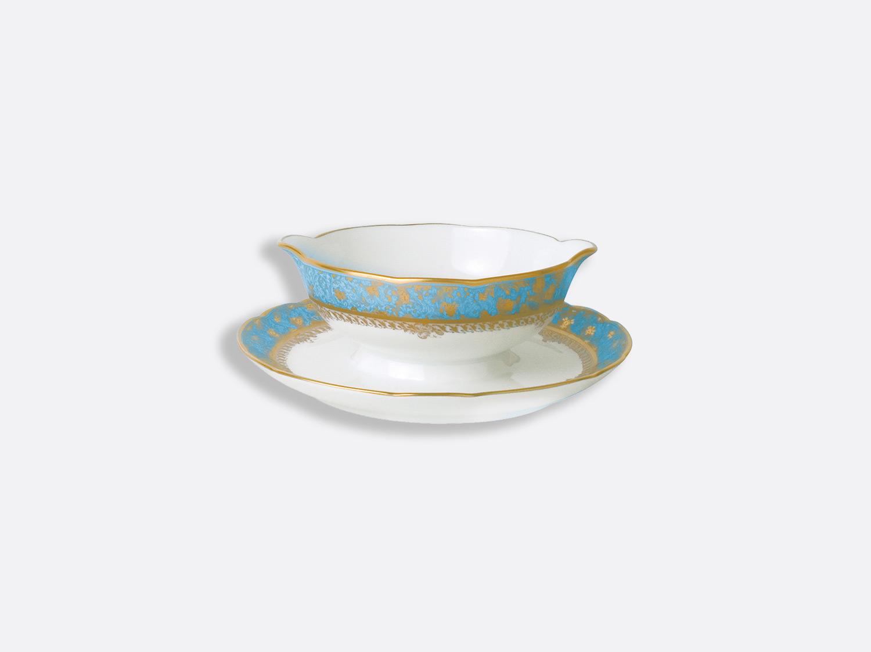 Saucière 25 cl en porcelaine de la collection Eden turquoise Bernardaud