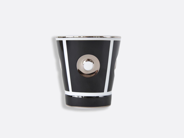 Gobelet 25 cl noir argent en porcelaine de la collection Eolie Bernardaud