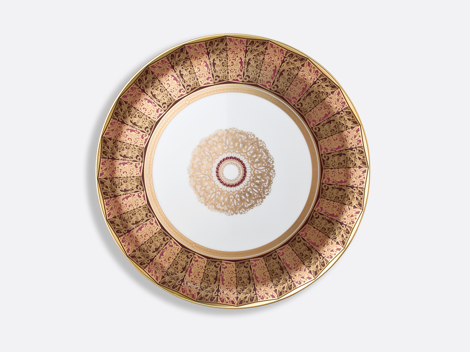 Plat à tarte 32 cm en porcelaine de la collection Eventail Bernardaud