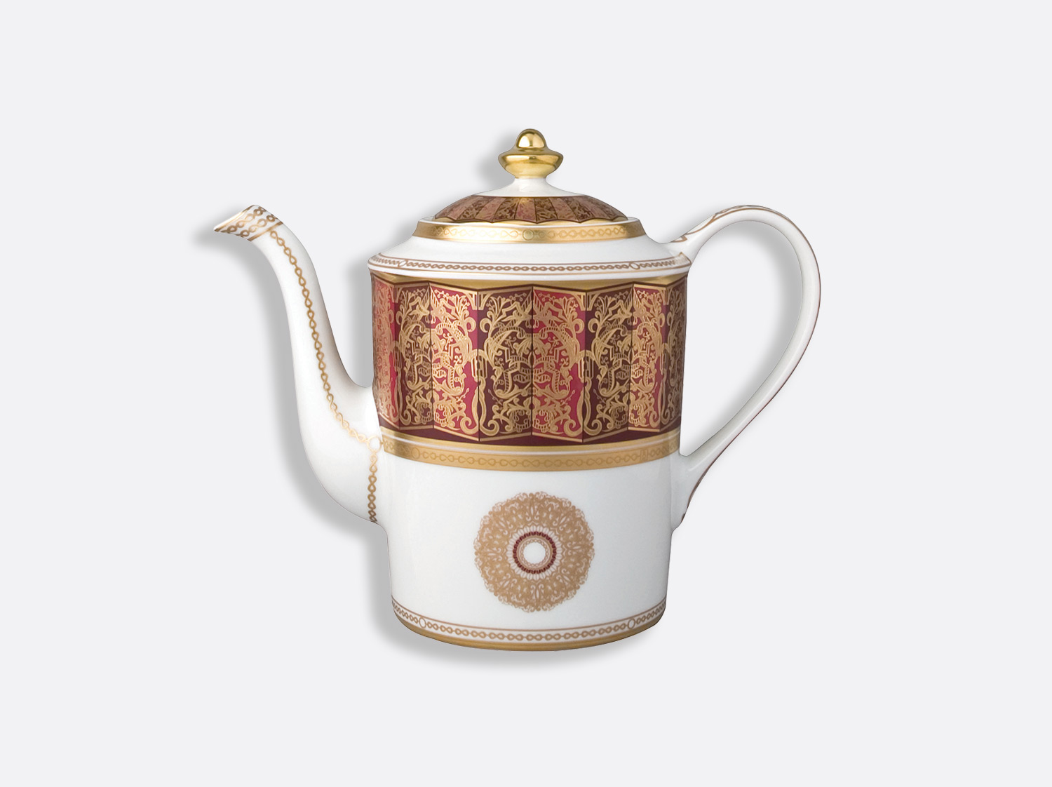 Cafetière 12 tasses 1 L en porcelaine de la collection Eventail Bernardaud