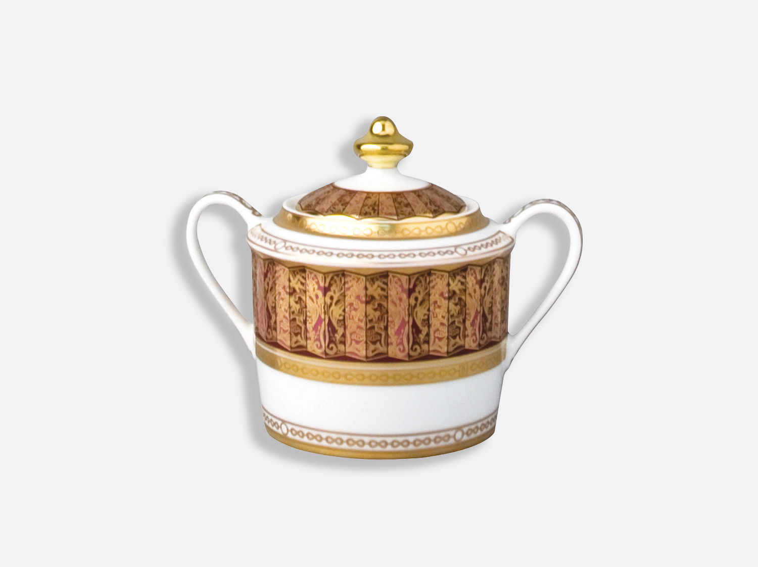Sucrier 6 tasses 20 cl en porcelaine de la collection Eventail Bernardaud