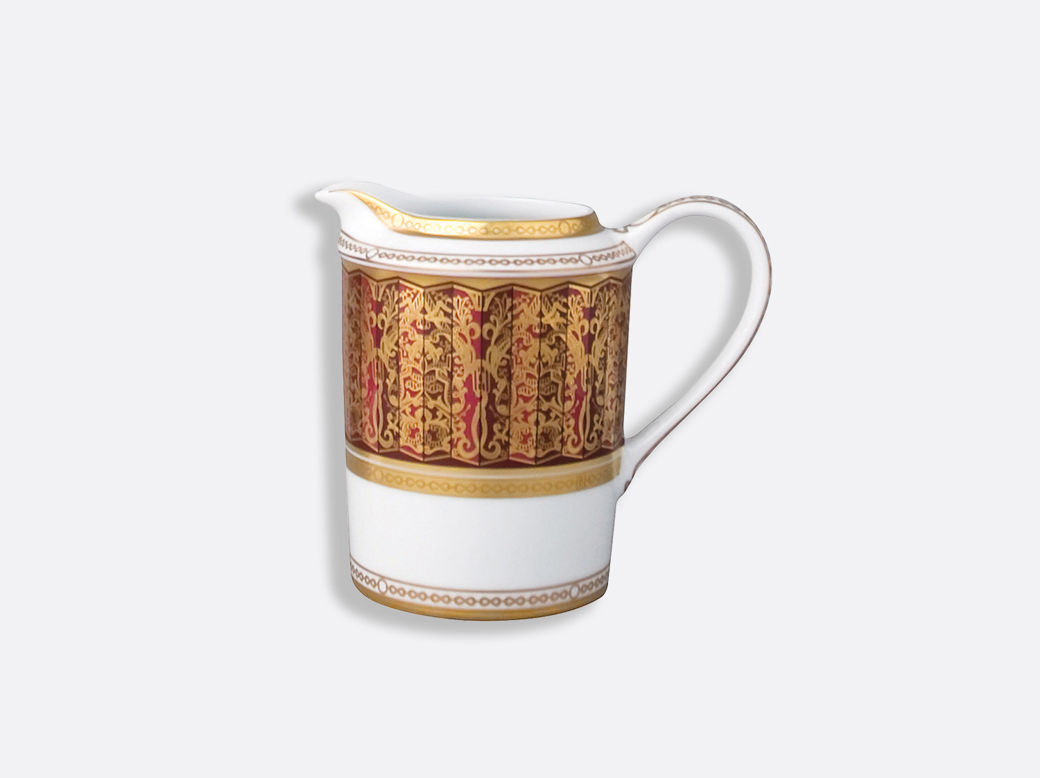 Crémier 12 tasses 30 cl en porcelaine de la collection Eventail Bernardaud