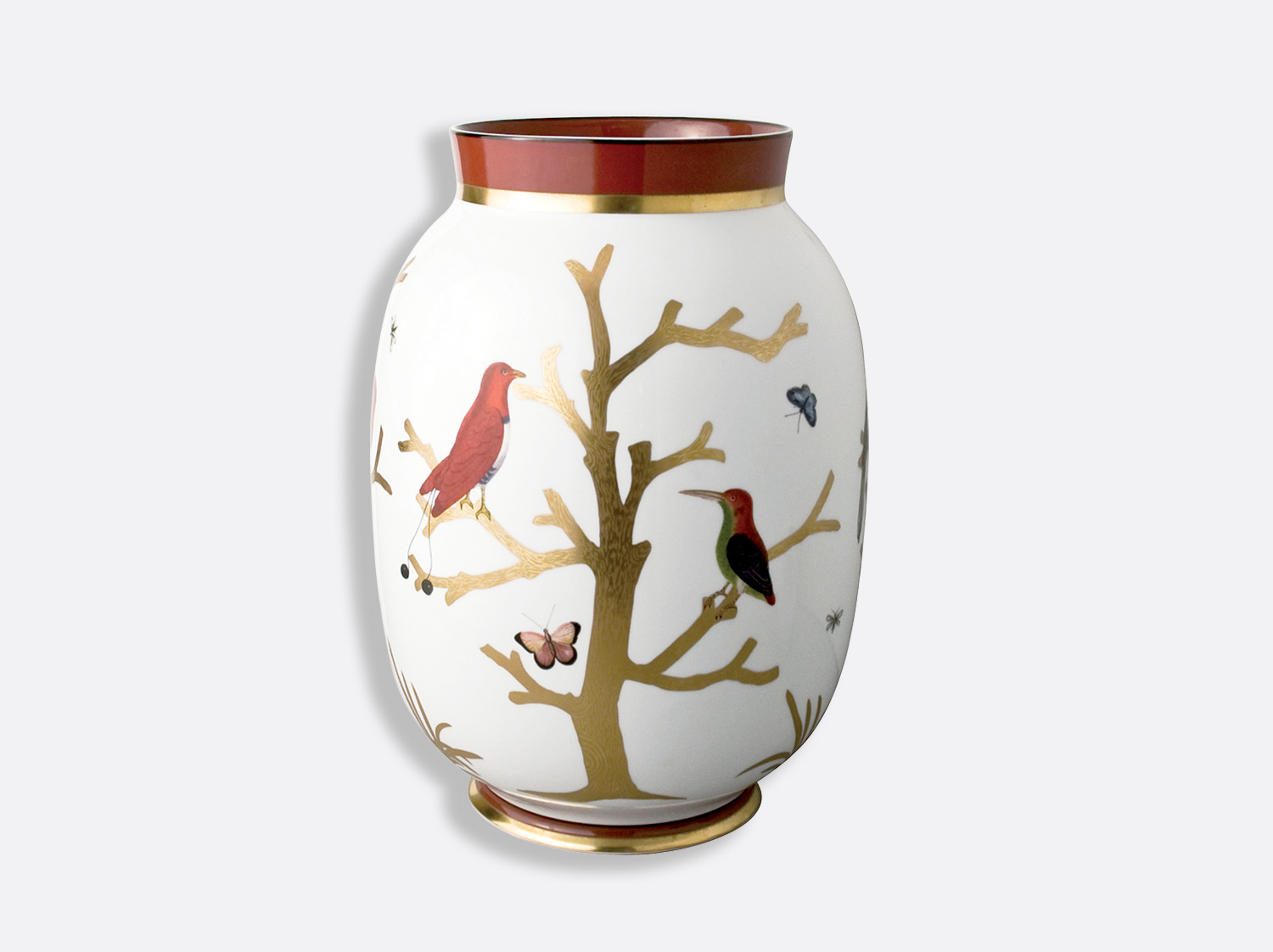 China Toscan vase 33,5 cm of the collection Aux oiseaux | Bernardaud
