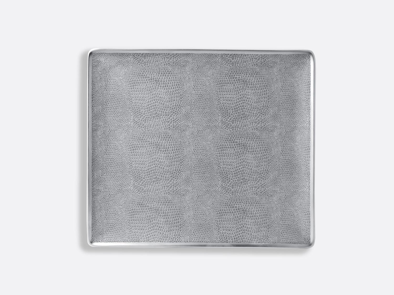 Plateau rectangulaire 22 x 19,5 cm en porcelaine de la collection Sauvage Bernardaud