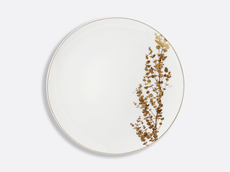 Assiette à dîner 26 cm en porcelaine de la collection Vegetal or Bernardaud