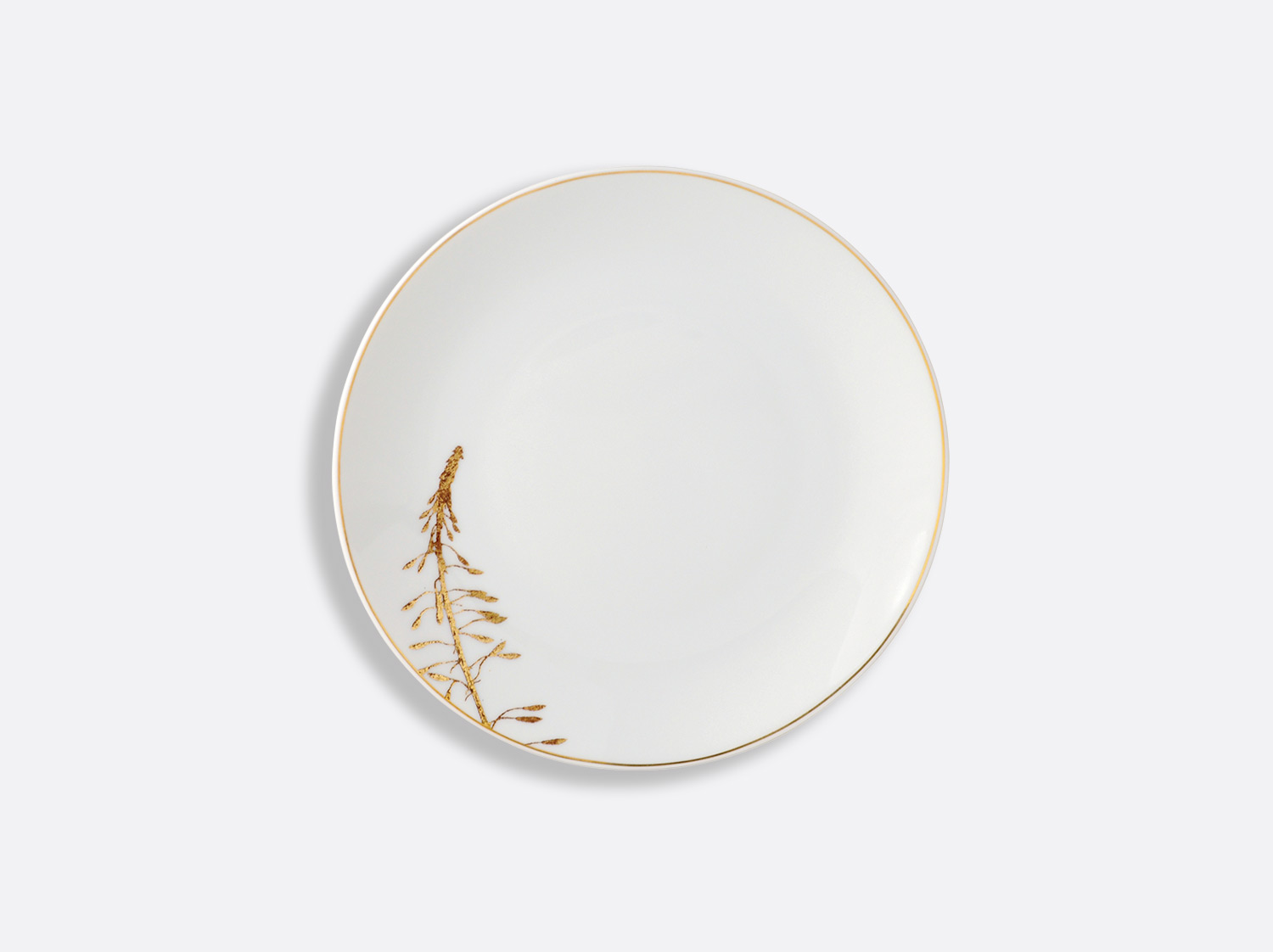 Assiette à pain 16 cm en porcelaine de la collection Vegetal or Bernardaud