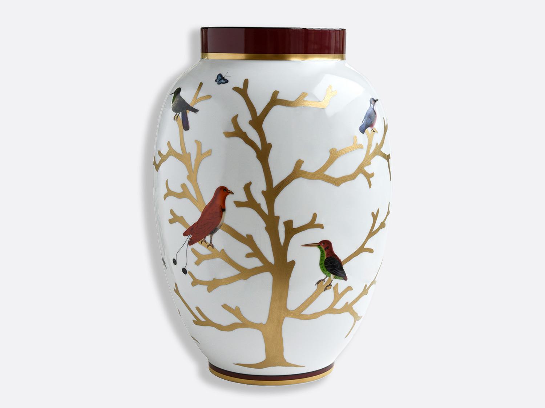 Potiche H. 57cm en porcelaine de la collection Aux oiseaux Bernardaud