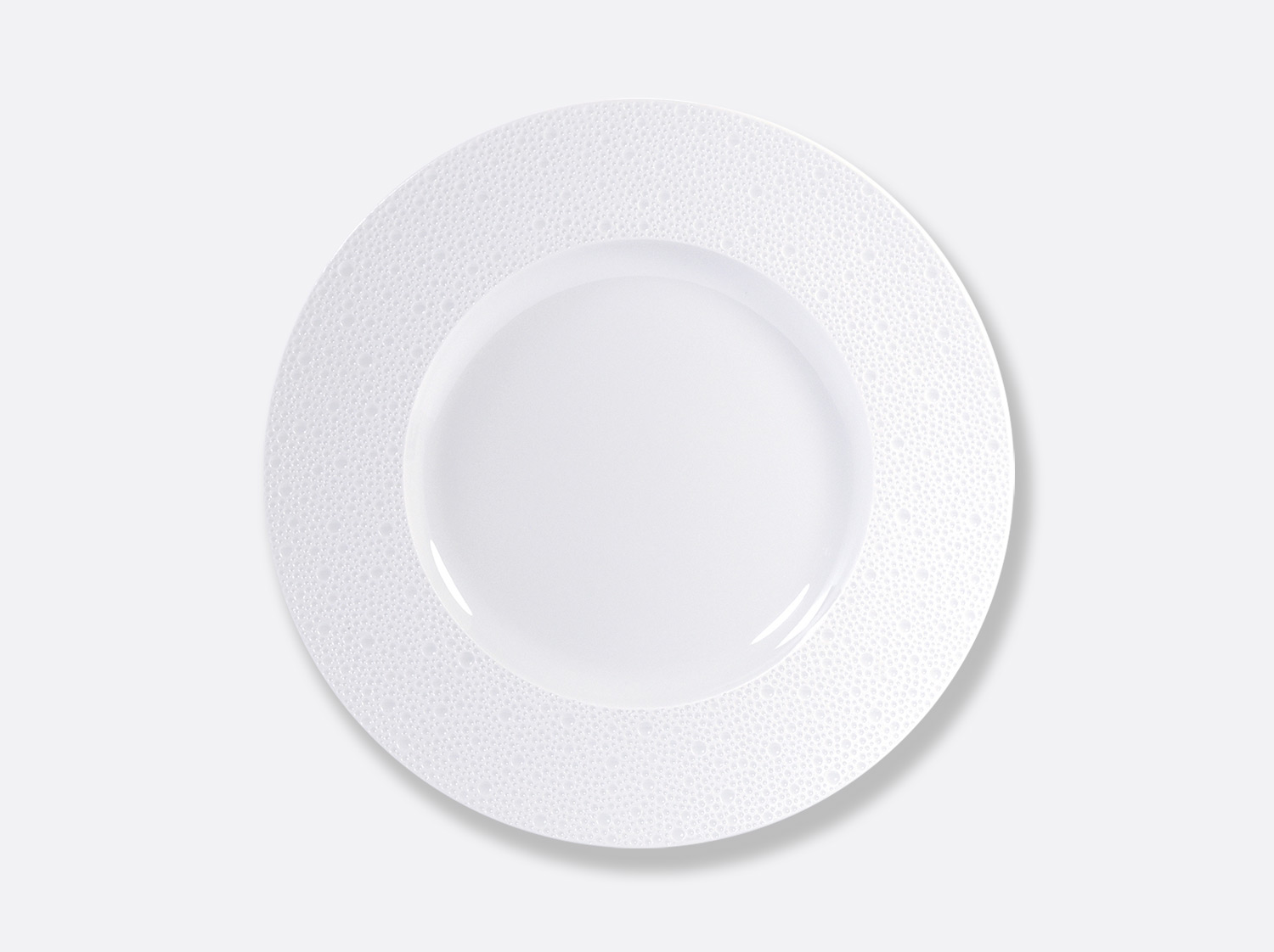 Assiette plate 31,5 cm en porcelaine de la collection Ecume Bernardaud