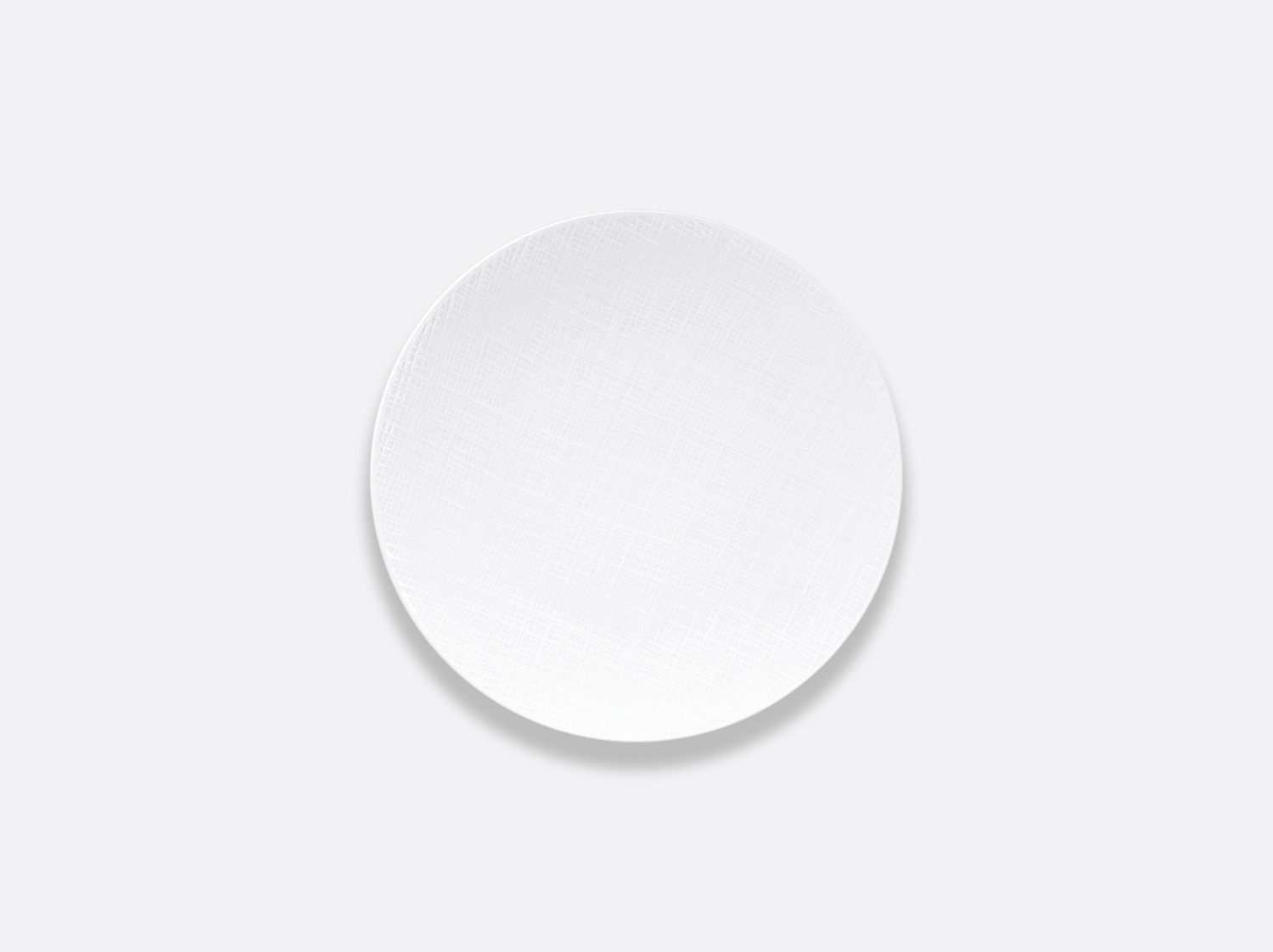 Assiette coupe 16 cm en porcelaine de la collection Organza Bernardaud