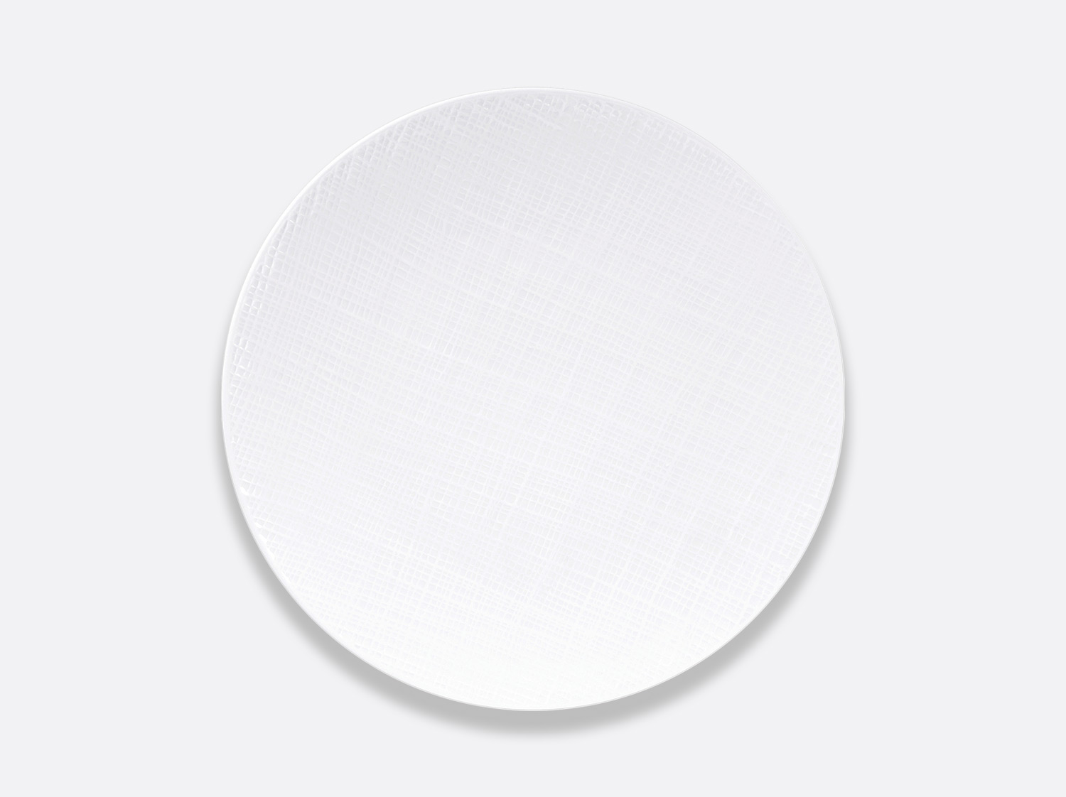 Assiette coupe 21 cm en porcelaine de la collection Organza Bernardaud