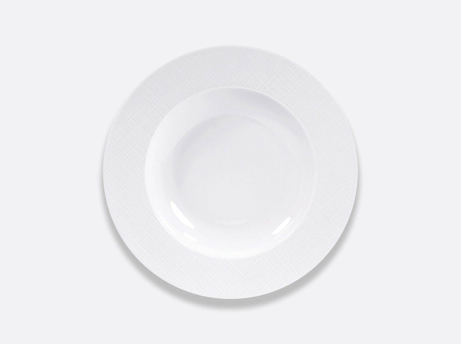 Assiette creuse 23,5 cm en porcelaine de la collection Organza Bernardaud