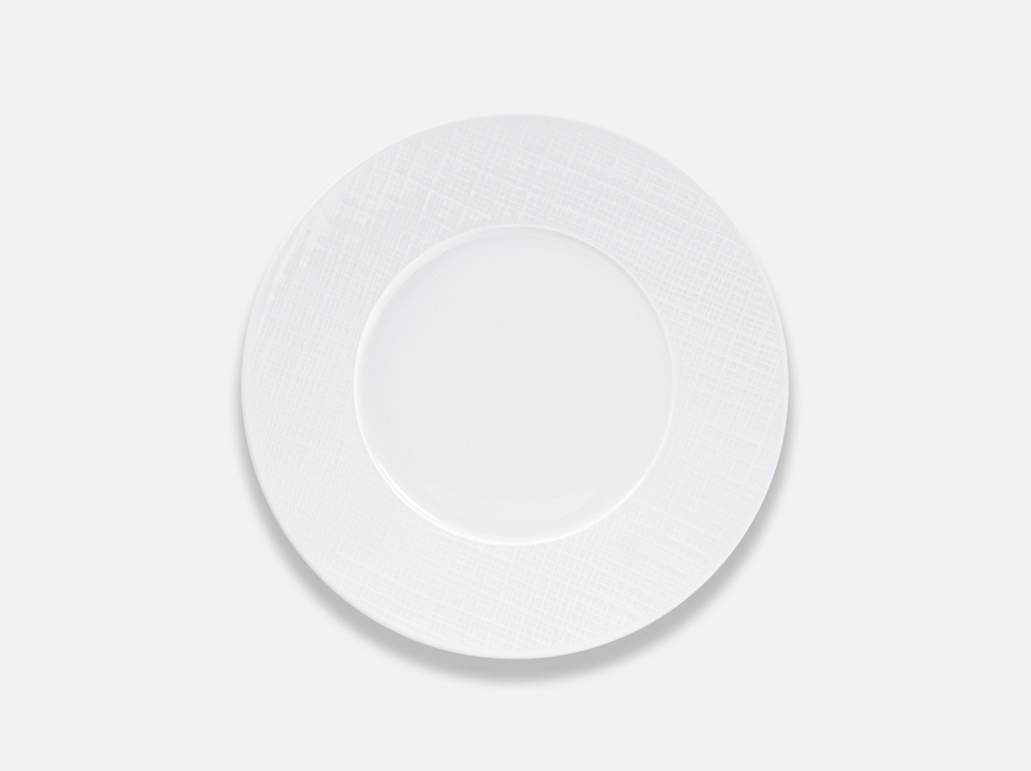 Assiette plate 21 cm en porcelaine de la collection Organza Bernardaud