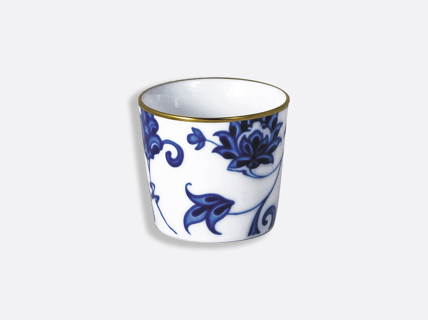 Timbale 6 cl 6 cm en porcelaine de la collection Prince bleu Bernardaud