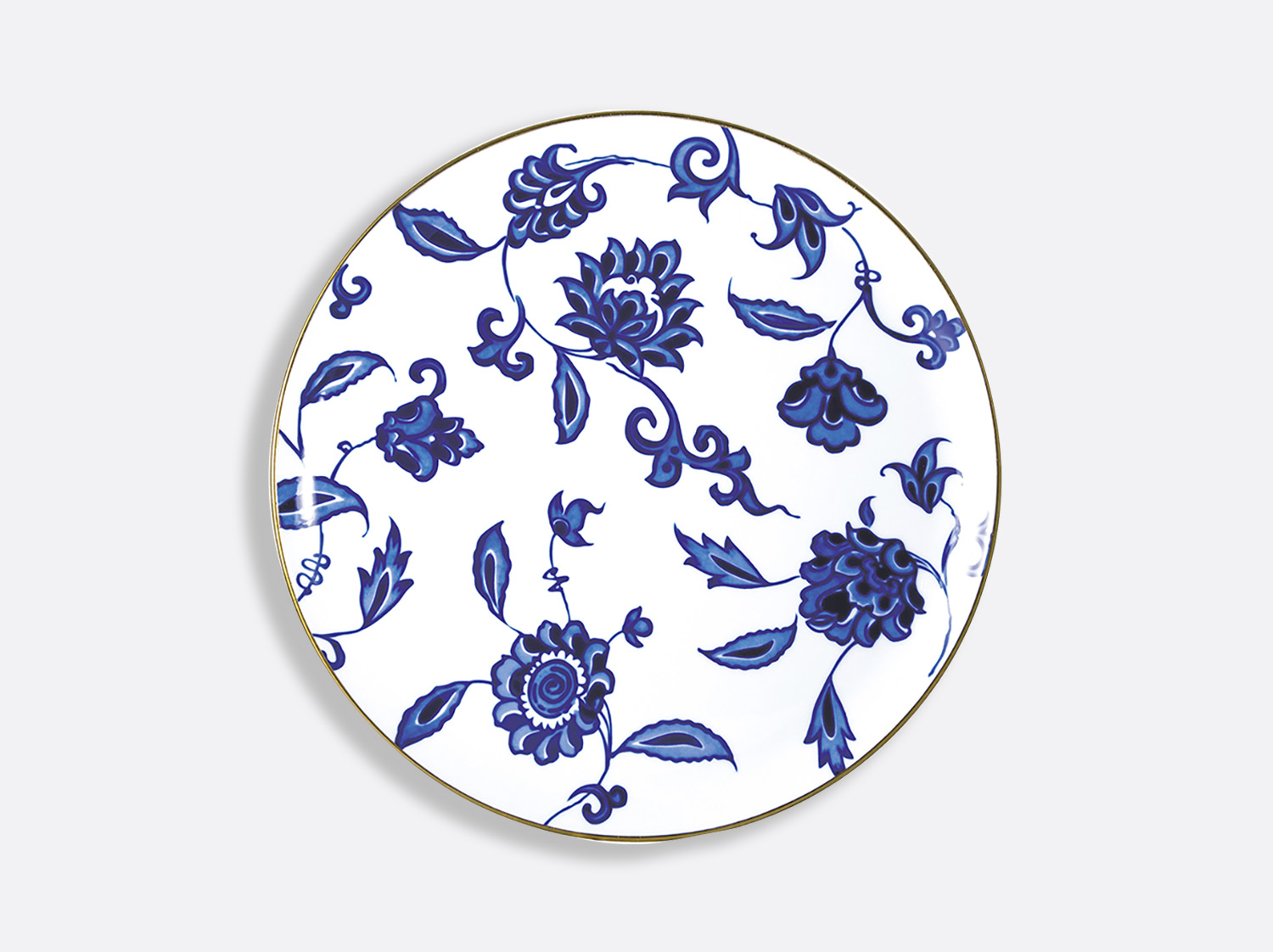 China Tart platter - round 32 cm of the collection Prince bleu | Bernardaud