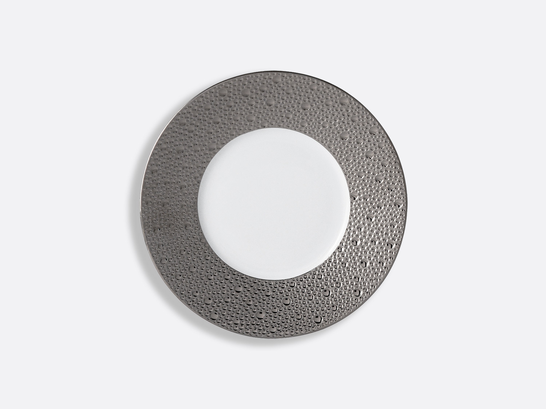 Assiette plate 16 cm en porcelaine de la collection Ecume platine Bernardaud