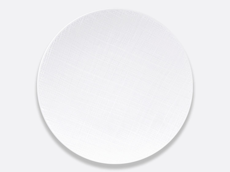 Assiette coupe 29,5 cm en porcelaine de la collection Organza Bernardaud