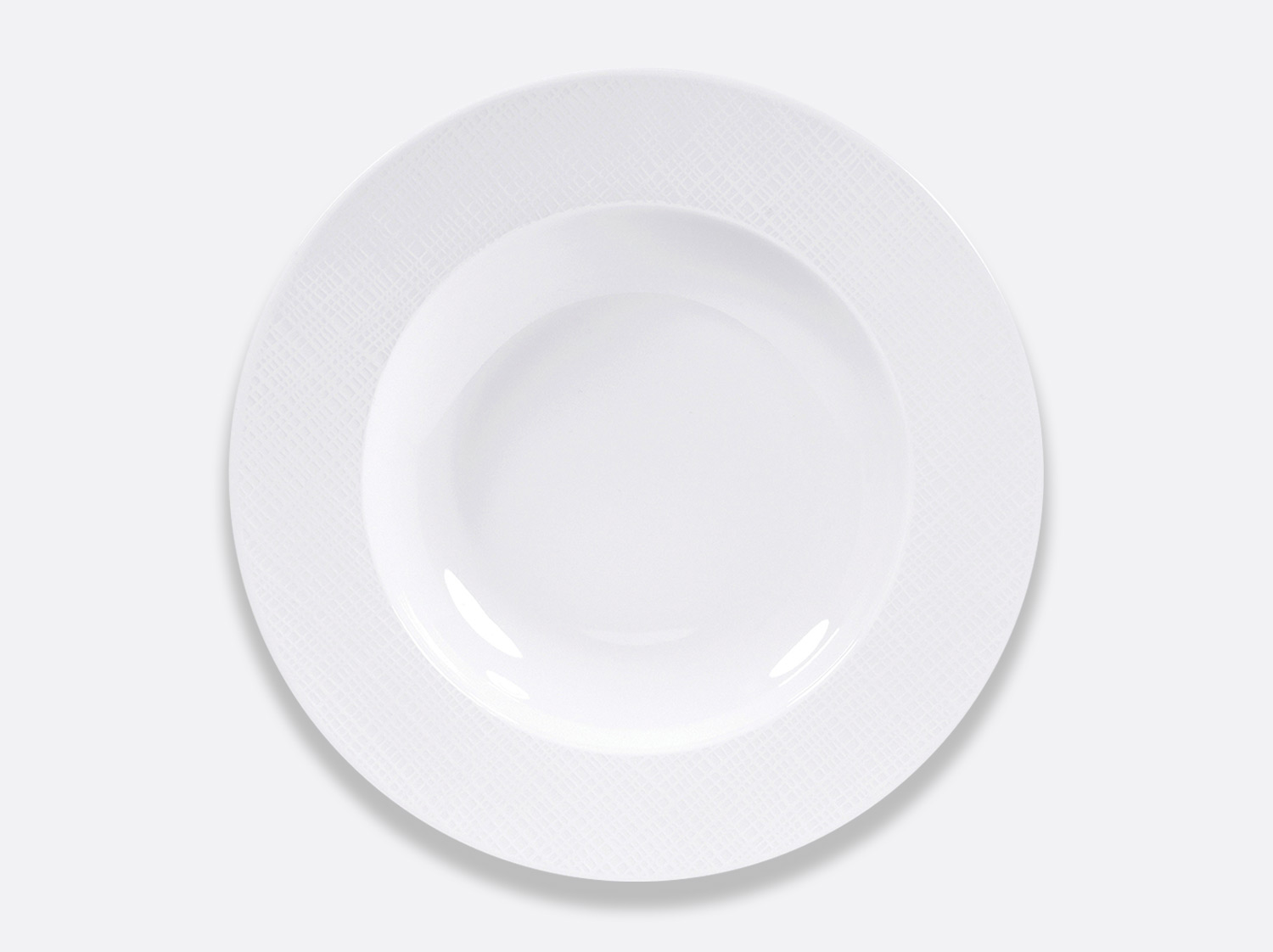 Assiette creuse 29,5 cm en porcelaine de la collection Organza Bernardaud