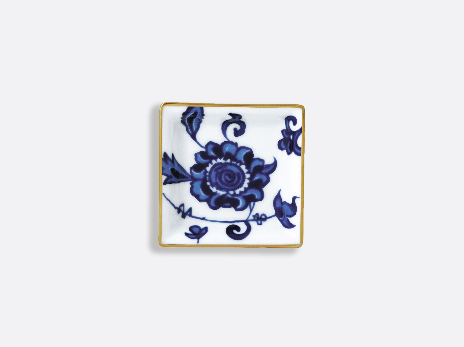 Vide-poches 8 x 8 cm en porcelaine de la collection Prince bleu Bernardaud