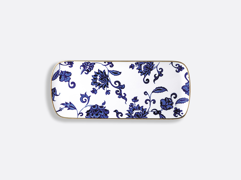 Plat à cake 38 cm en porcelaine de la collection Prince bleu Bernardaud