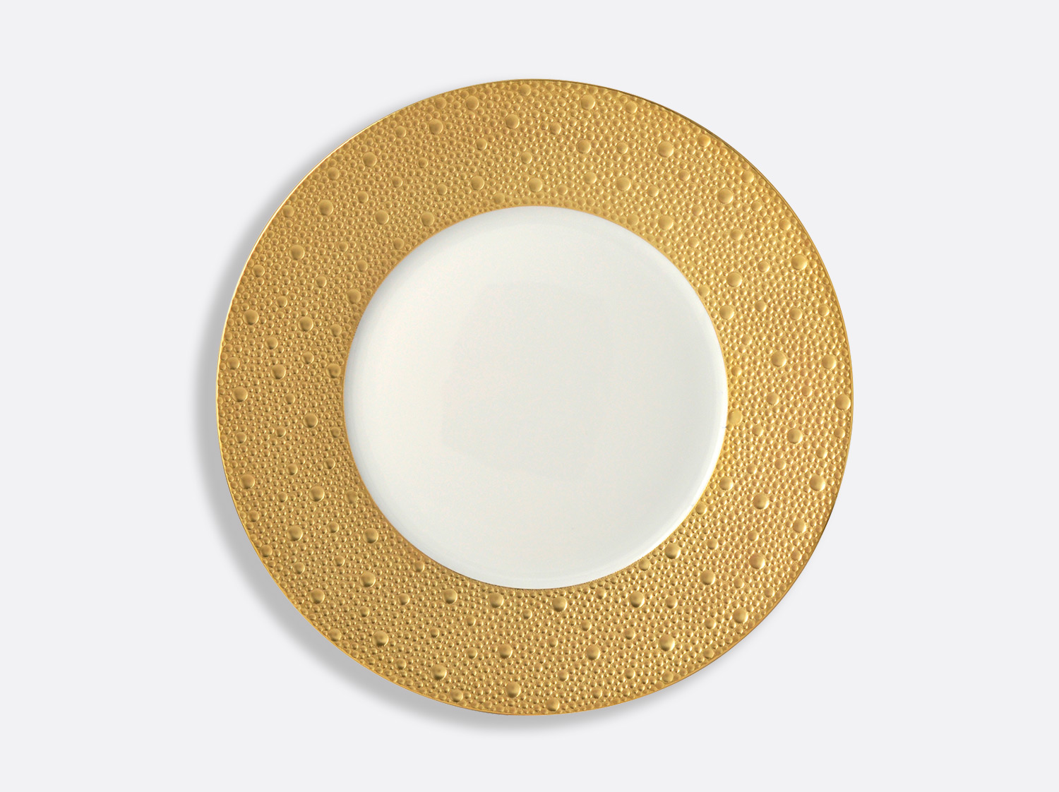 China Plate 26 cm of the collection Ecume gold | Bernardaud