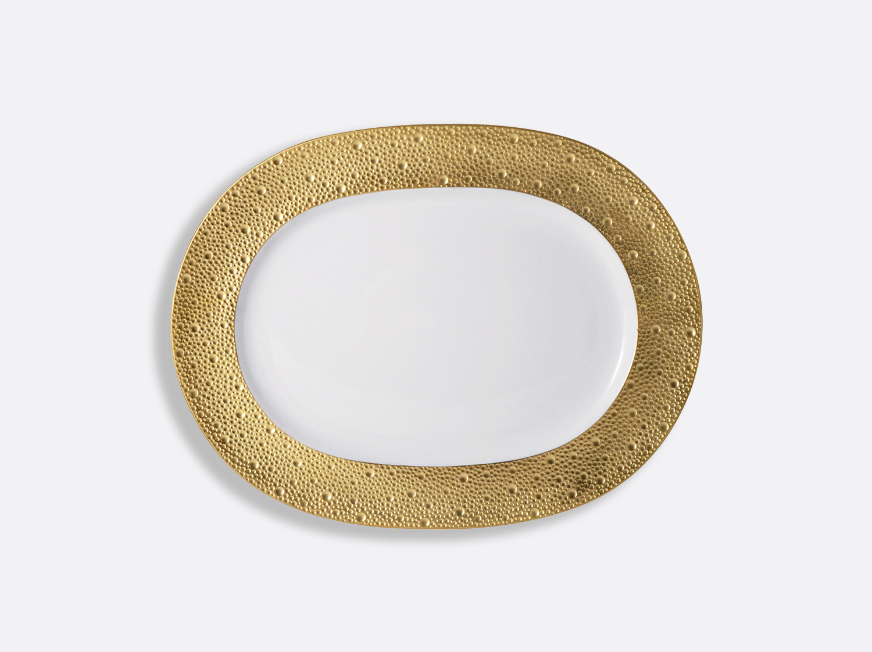 Plat ovale 35 cm en porcelaine de la collection Ecume or Bernardaud