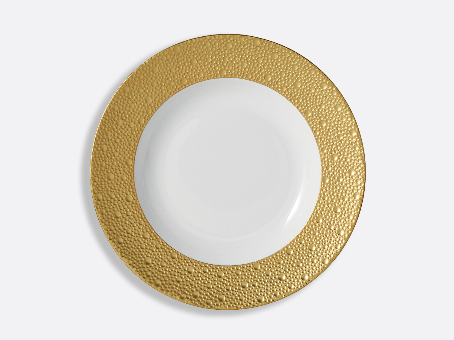 China Rim soup plate 23 cm of the collection Ecume gold | Bernardaud