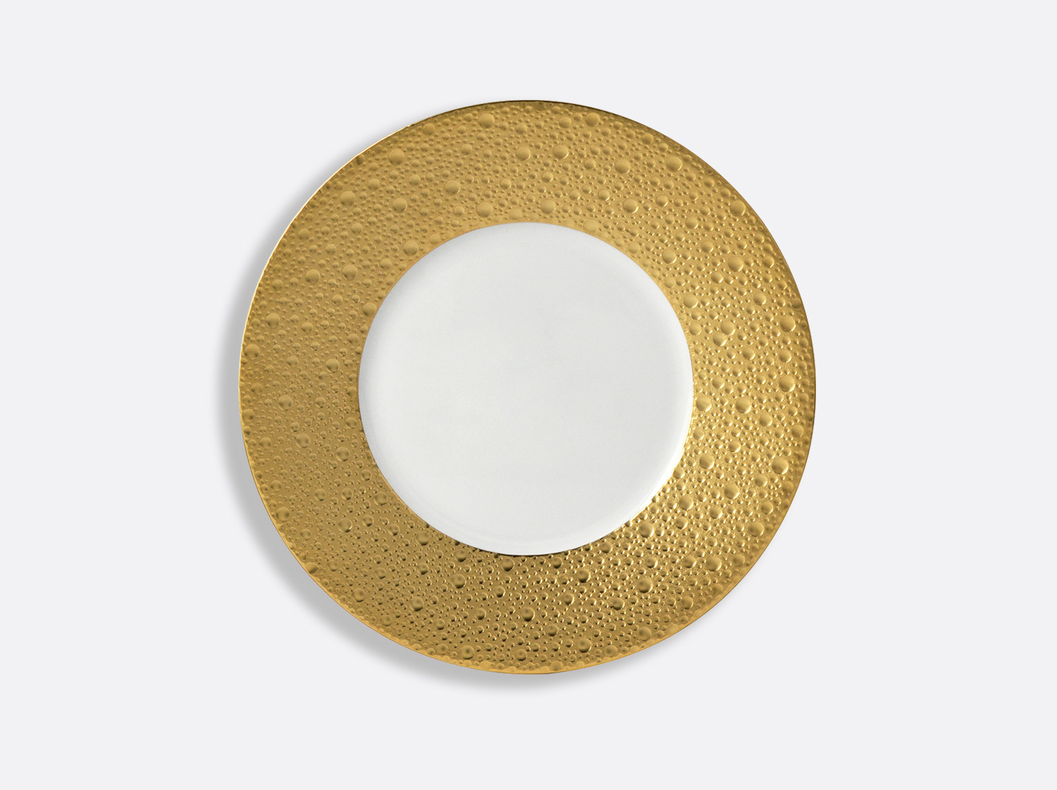 China Plate 21 cm of the collection Ecume gold | Bernardaud